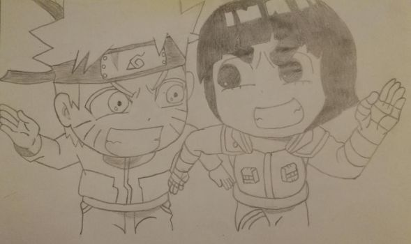 Naruto and Rock Lee by IAmMerskichu