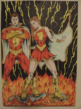 Shazzam + Mary Marvel by Nick-Bray