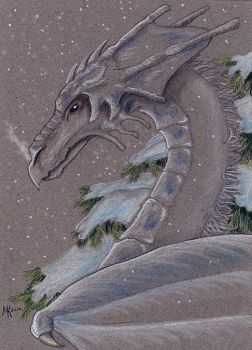 Snow Dragon by ghostmoon701