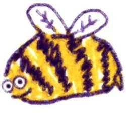 fuzzy bee by anglecloud