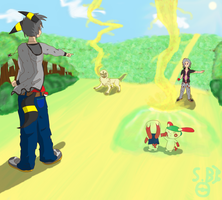 Sora and Darcy Battle by Skaterblog