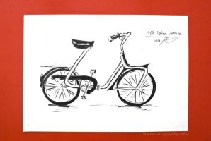 Inktober Challenge: Day 1: Foldy Bike by nongravity