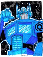 Blue Lantern Optimus Prime by misfitcorner
