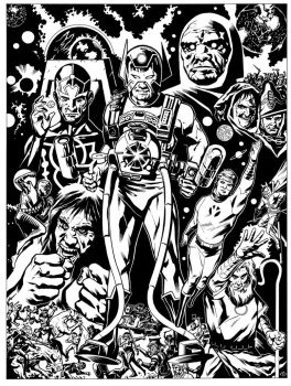 Jack Kirby's New Gods by TonyDennison