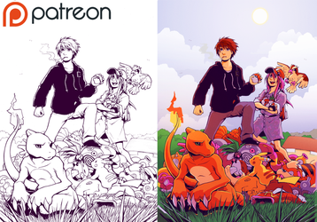 Mokepon Chapter 11 Colouring Process by H0lyhandgrenade