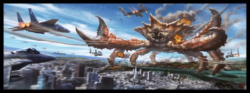 Attack of the Incredible Giant Crab! by VegasMike