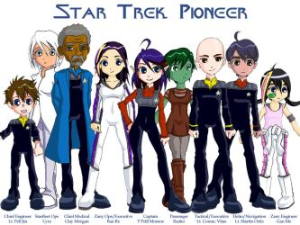Pioneer Crew Colored by Glee-chan