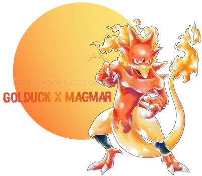 Golduck X Magmar by Seoxys6