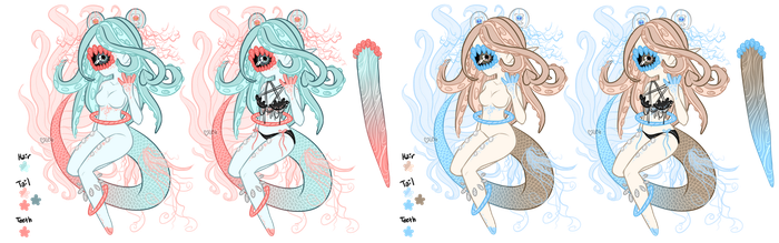 Mermay: Xynthii Adopt: Day 6: Jellyfish: CLOSED by ObsceneBarbie
