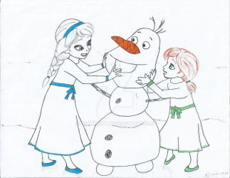 Do you want to build a snowman? WIP by DinkyInky