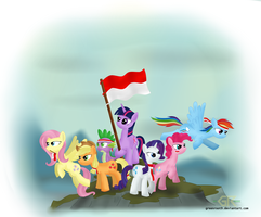 Mane 6 Special Independence of Indonesia by greenroot9