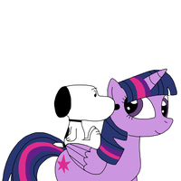 Snoopy riding on Twilight Sparkle by MarcosPower1996