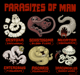 Parasites of Man by scythemantis
