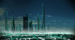Futuristic City by cMac89