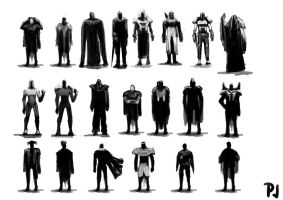 Hero_Anti_Hero Silhouettes by kartoonist