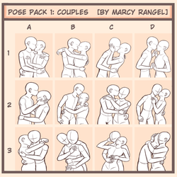 Drawing meme: Couple Poses by MarcyRangel
