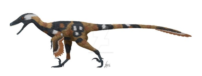 Velociraptor in cape hunting dog garb by ScottHartman