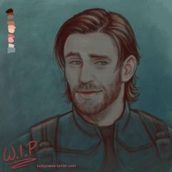 Beardy!Steve sketch 02 by luckyraeve