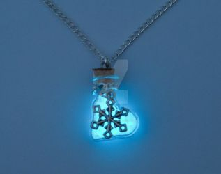 Glowing Frozen Necklace by ArchandSoul