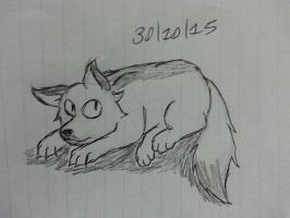 (Inktober Day 20 *late again*) Bored fox by Revenir-Ghoul