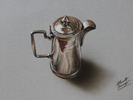 Silver pitcher DRAWING Marcello Barenghi by marcellobarenghi