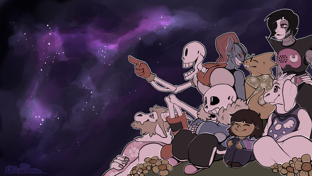 Night Sky - Undertale Wallpaper by why-so-cirrus