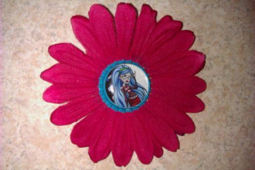 ghoulia flower clip by MurderShannon