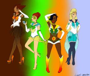 Sailor Seasons (Colored Lineart) by animewiccan725