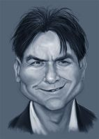 Charlie Sheen sketch by markdraws