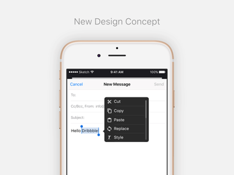 iOS Text Popover Concept by Ramotion