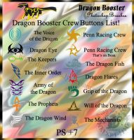 Dragon Booster Crew Brushes by CrystalJoy-Creations