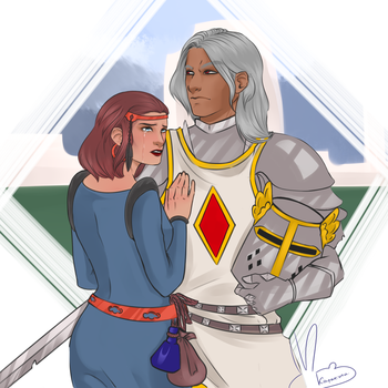 Qeen and Knight by Ahraan