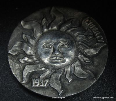 Hobo Nickel 'Majestic Sun' coin face re-carving by shaun750