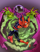 Spideycember day 4 - Mysterio, colored by tofuthebold