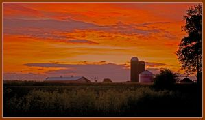 Farm sunrise. L1000470, with story by harrietsfriend