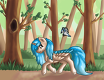 Finished YCH: Trotting In The Forest by Funny-arts