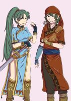 Lyn and Rath (Fire Emblem) by PaulWComics