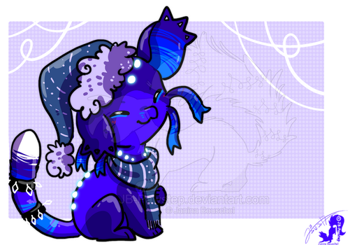 Winter Time Chibi - Blueverly by JB-Pawstep