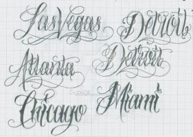 Citys Lettering by 12KathyLees12