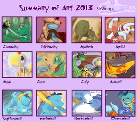 Summary of Art 2013 by CrazyIguana