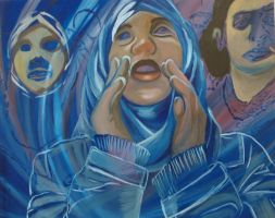 Women Protest Painting 2014 by Aamira-Mulla-Art