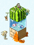 Watermelon Cube by Angle-007