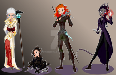 commission lineup by QueenZora