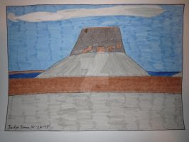 InkTober Drawing #26 Hat Rock, OR by Justyn16