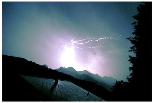 Lightning over the Swiss Alps by crimson-ivory