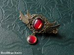 Angel hairclip - red by BlackWings-jewelry