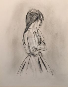 Reproduction of Lonely Girl by Jacqui Belcher  by RickWaterman