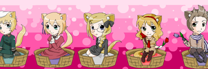 Hetalia Kitties 5 by pinkkittypower