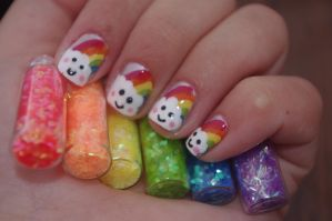 Rainbow nails 2 by solidadino