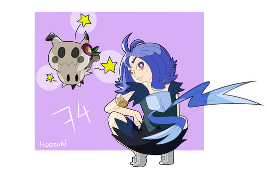 Pokemon Sun And Moon: Acerola + Mimikyu shiny by Hoozuki012
